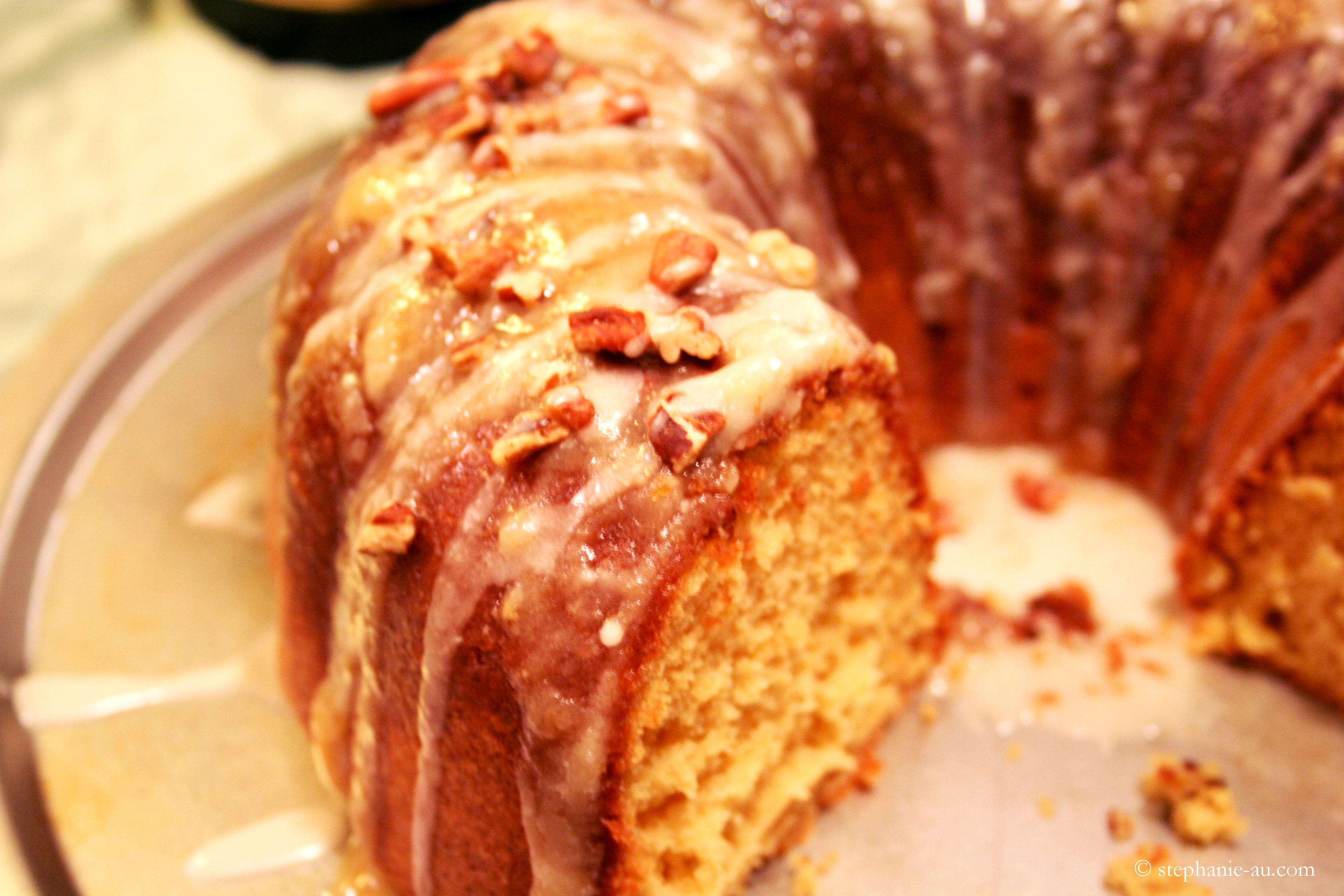 Irish Cream Bundt Cake with Baileys Glaze | Life Tastes Like Food